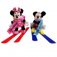 PELUCHE MICKEY & MINNIE C/SKIS PACK 2 UNI